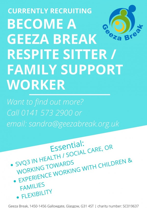 Respite Sitter / Family Support worker advert